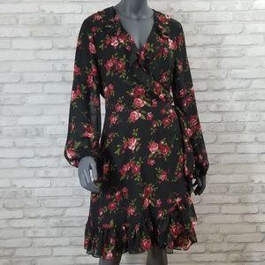 Nine West floral print wrap dress size 12